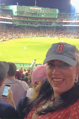 Bridget Eileen in the Bleachers at Fenway Park