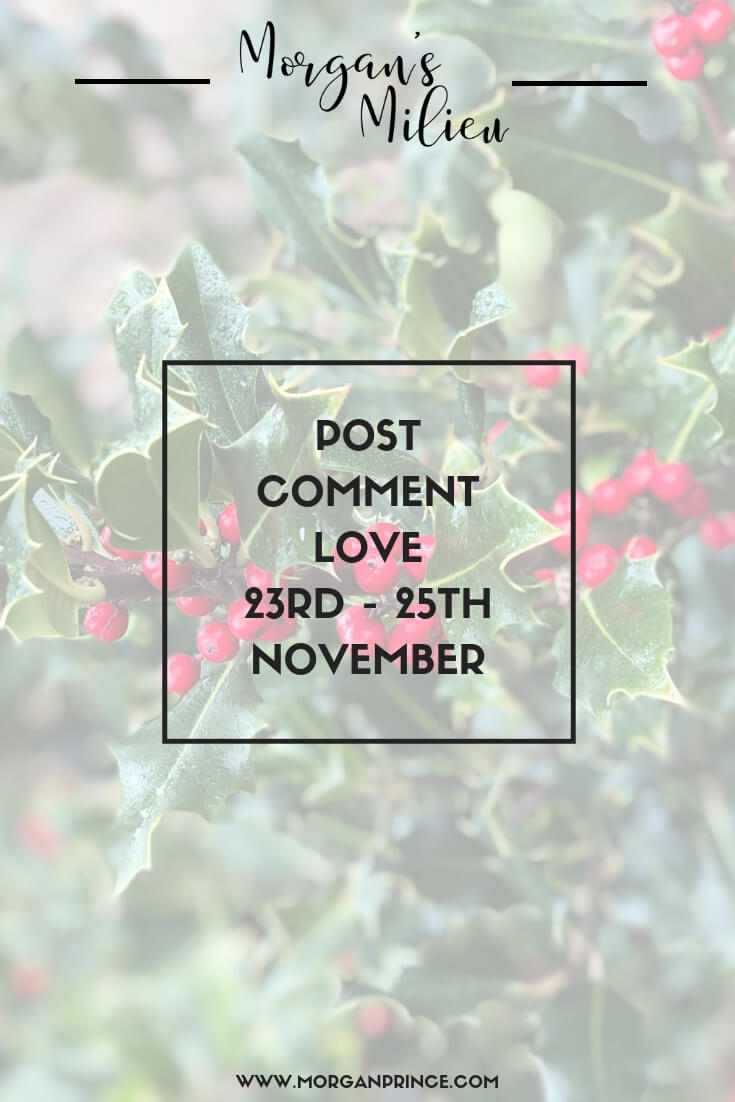 Post Comment Love 23rd - 25th November | Join Stephanie and I for our weekly linky where you can get your post seen by more people!