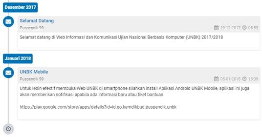 Info terbaru puspendik merilis UNBK mobile
