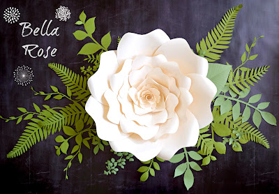 DIY paper flowers. Paper flower template. Printable flower template