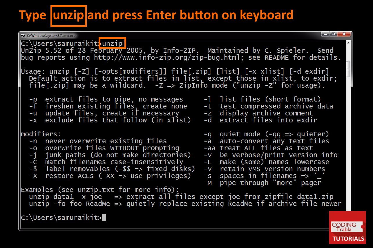 Info-zip zip exe command line | Peatix