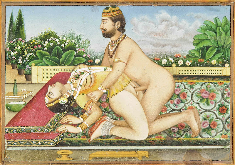 An Amorous Embrace, Probably Udaipur, Rajasthan, Late 19th Century