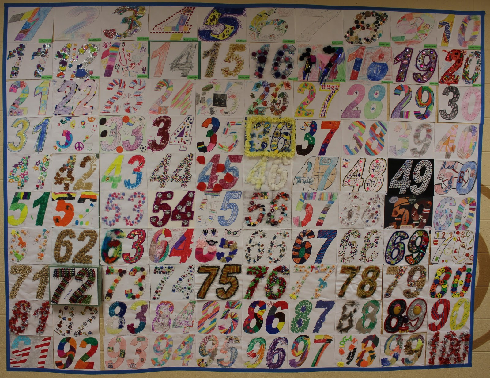 First Grade Rocks The 100th Day Of School