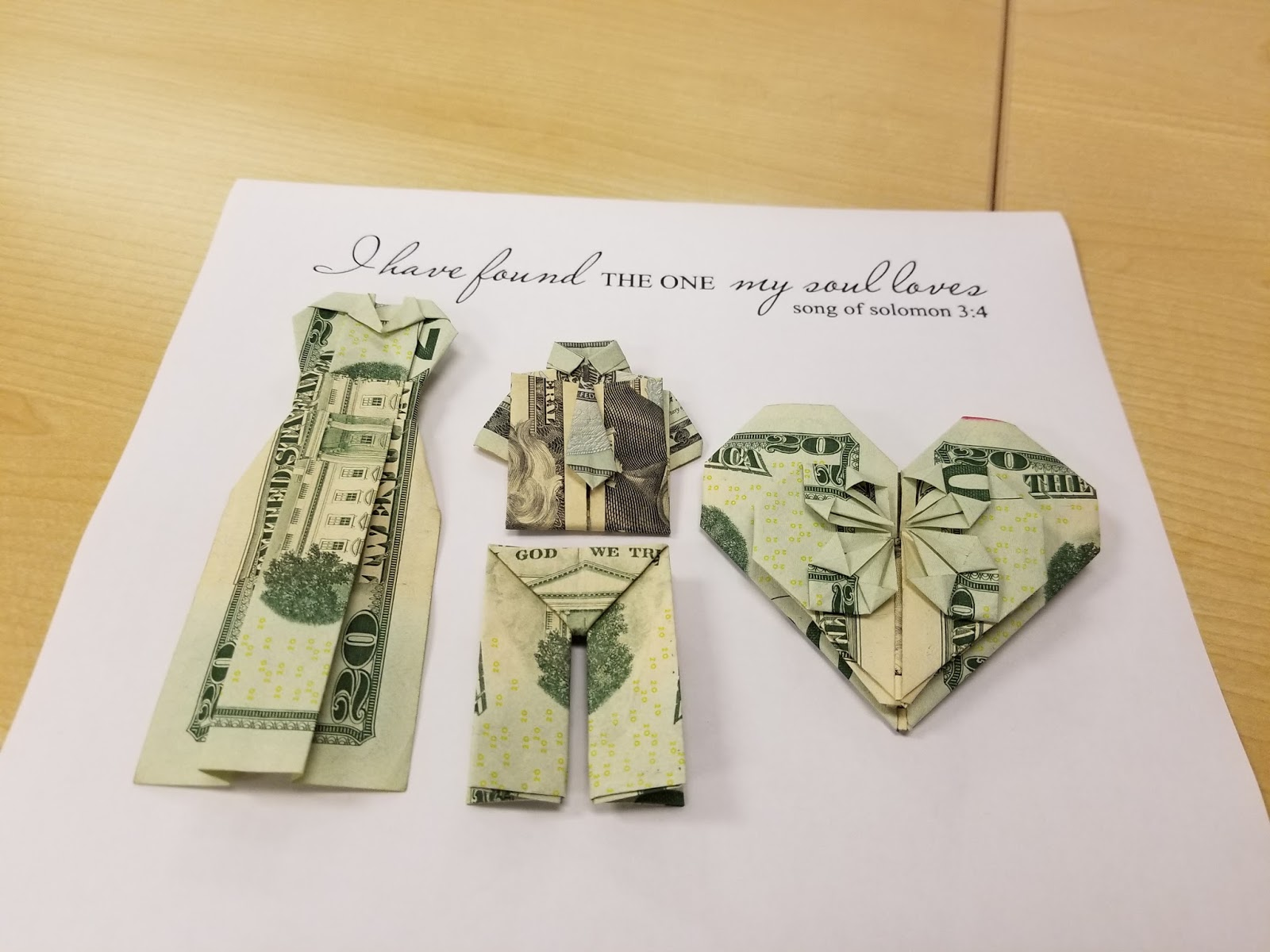 How to Make A Simple Wedding Gift- Money Origami | Tupigs & Waffles