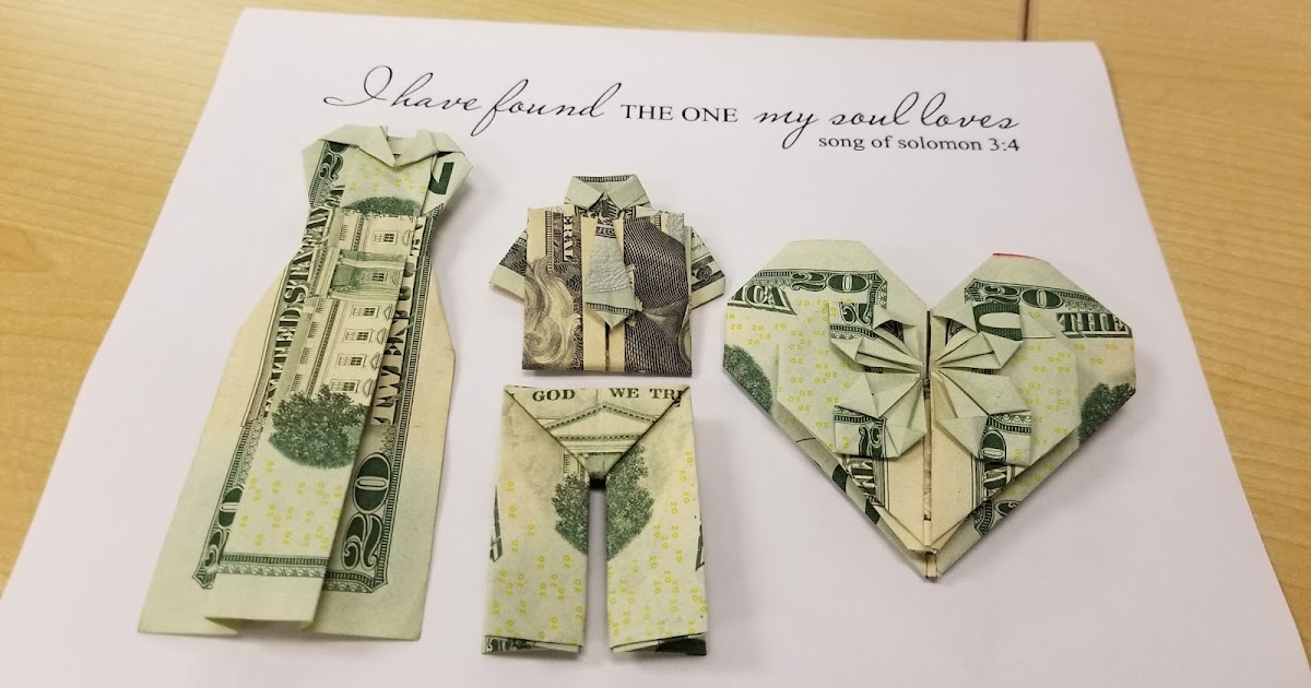 How To Make A Simple Wedding Gift Money Origami Tupigs Waffles