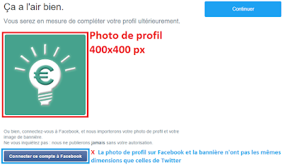 Dimensions de la photo de profil sur Twitter
