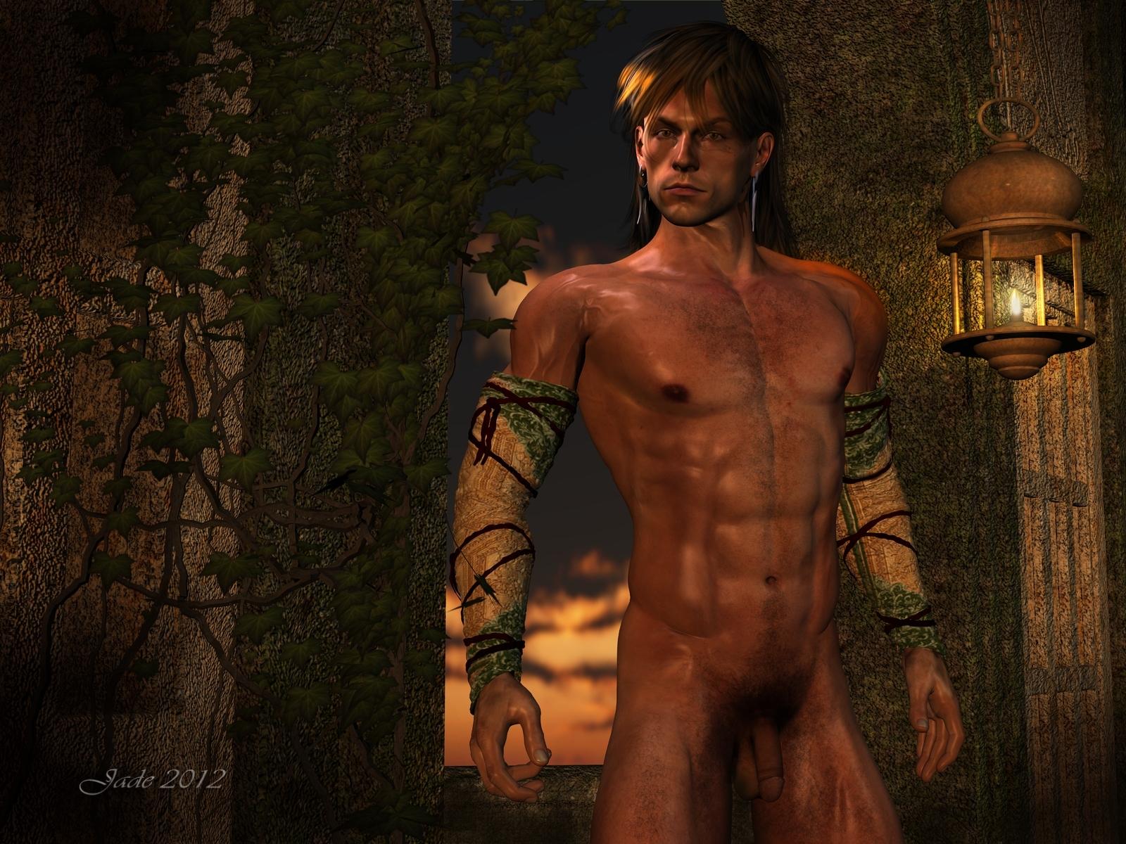 fantasy-nude-male-black-sexy-dress
