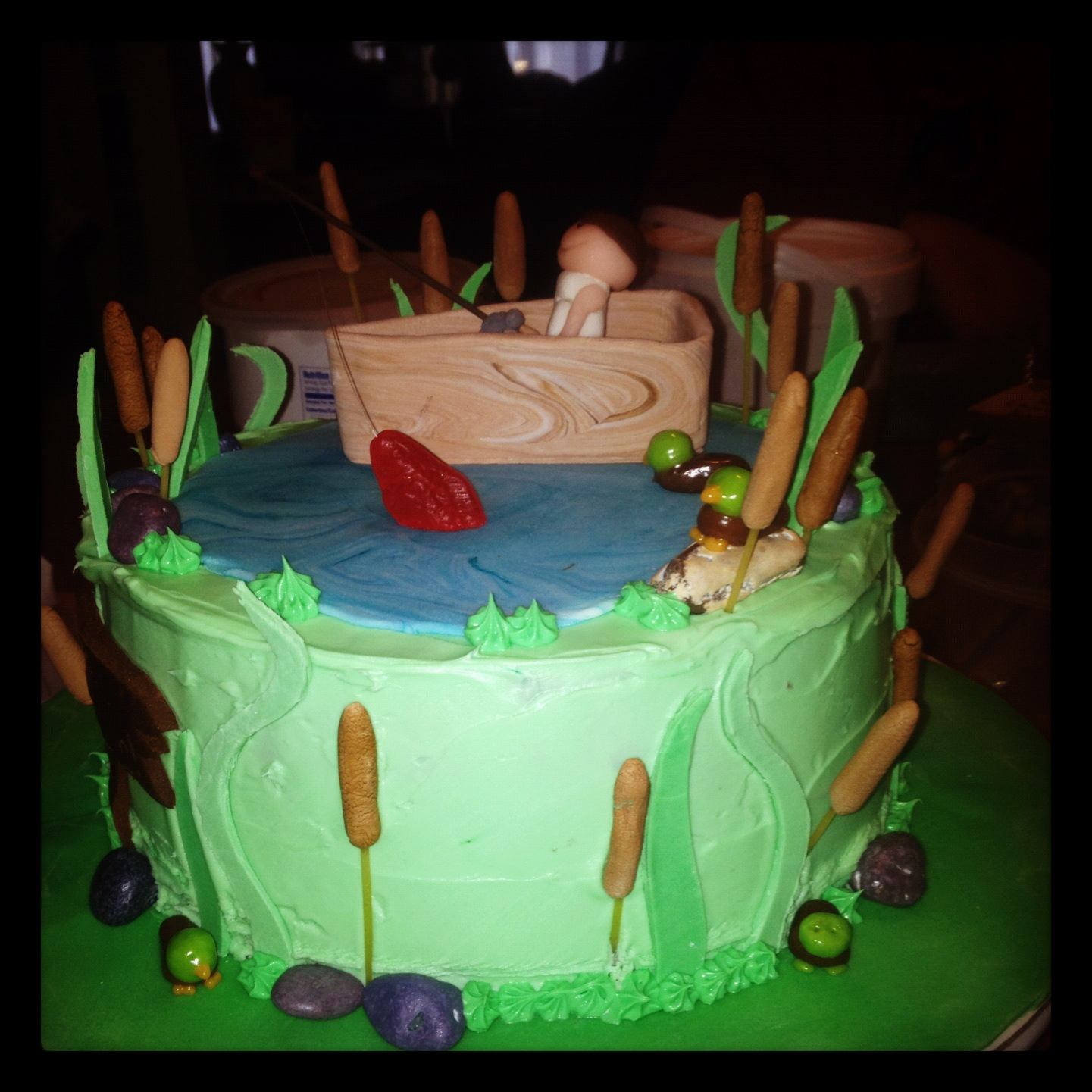 Fattiecakes Designs By Barb Quot Gone Fishing Quot Cake