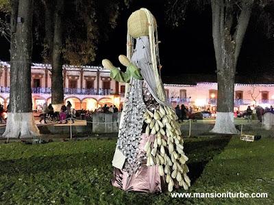 Artisan Nativity in Patzcuaro at Vasco de Quiroga Square