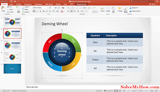 deming-wheel-diagram-powerpoint