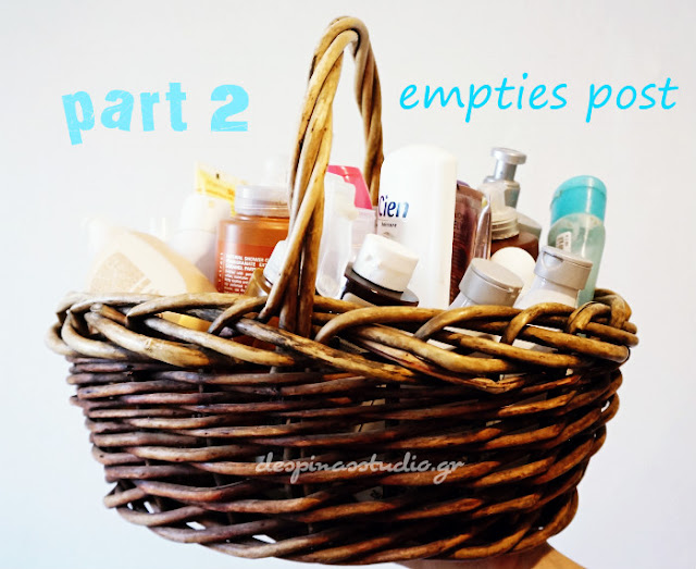 Empties post part 2 Skin care and Body care