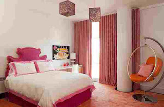 warna kamar tidur anak perempuan pinki