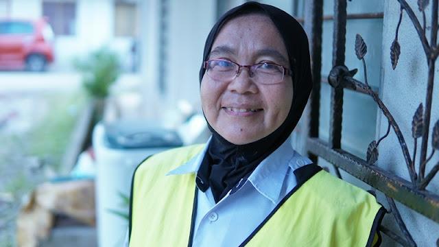 penerima bantuan muslim volunteer malaysia Puan Norlida