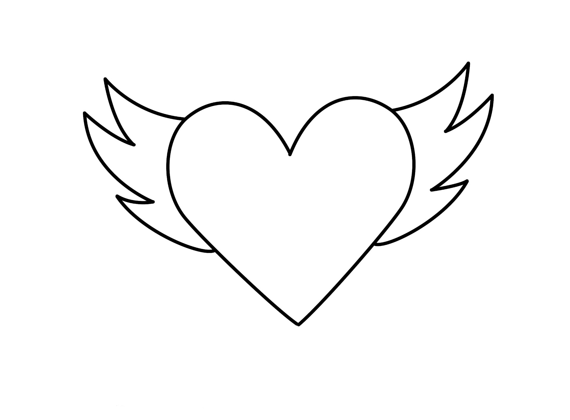 Best Free Hearts With Wings Coloring Pages Pictures - Free ...