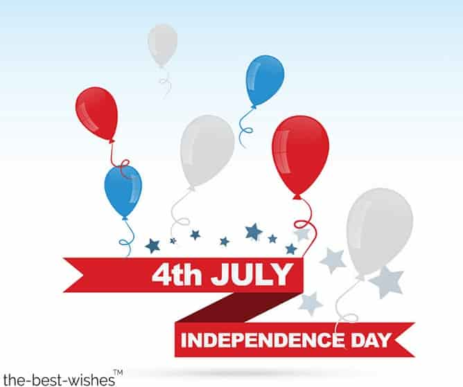 happy birthday wishes for united states 4th july with balloons