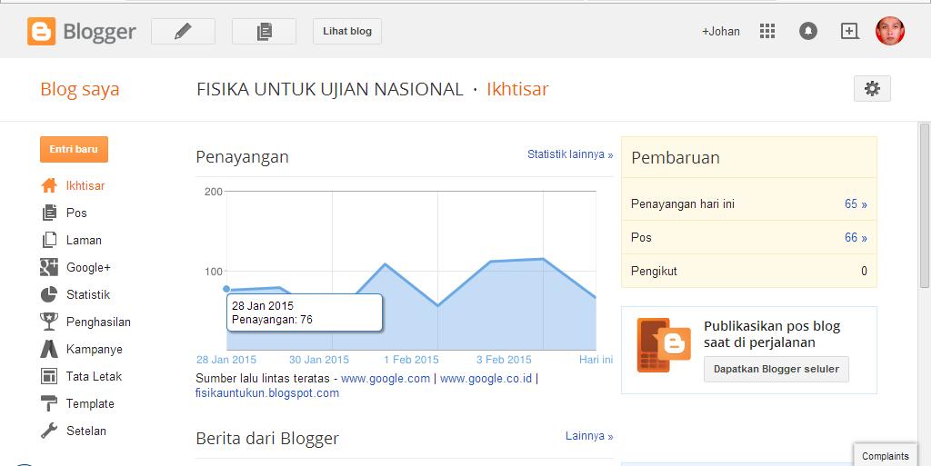 Membuat blog diblogger