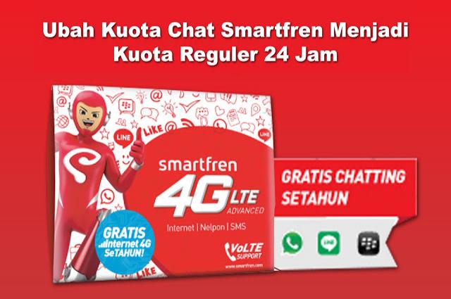 Cara Ubah Kuota Chat Smartfren Jadi Kuota Reguler 24 Jam
