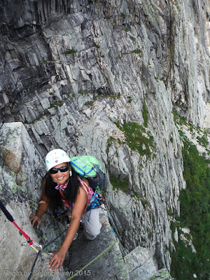 Cannon Mountain, multi pitch rock climb