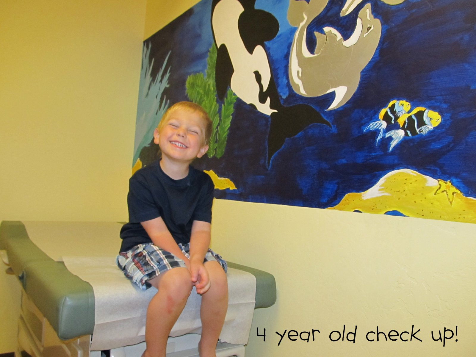 """Charlie had his 4 year old check up 2 days ago. He was super excited  actually to go to the doctor for his very own appointment! He said  excitedly, """"just for ..."""