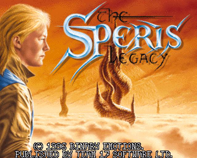 The Speris Legacy CD32 title screen