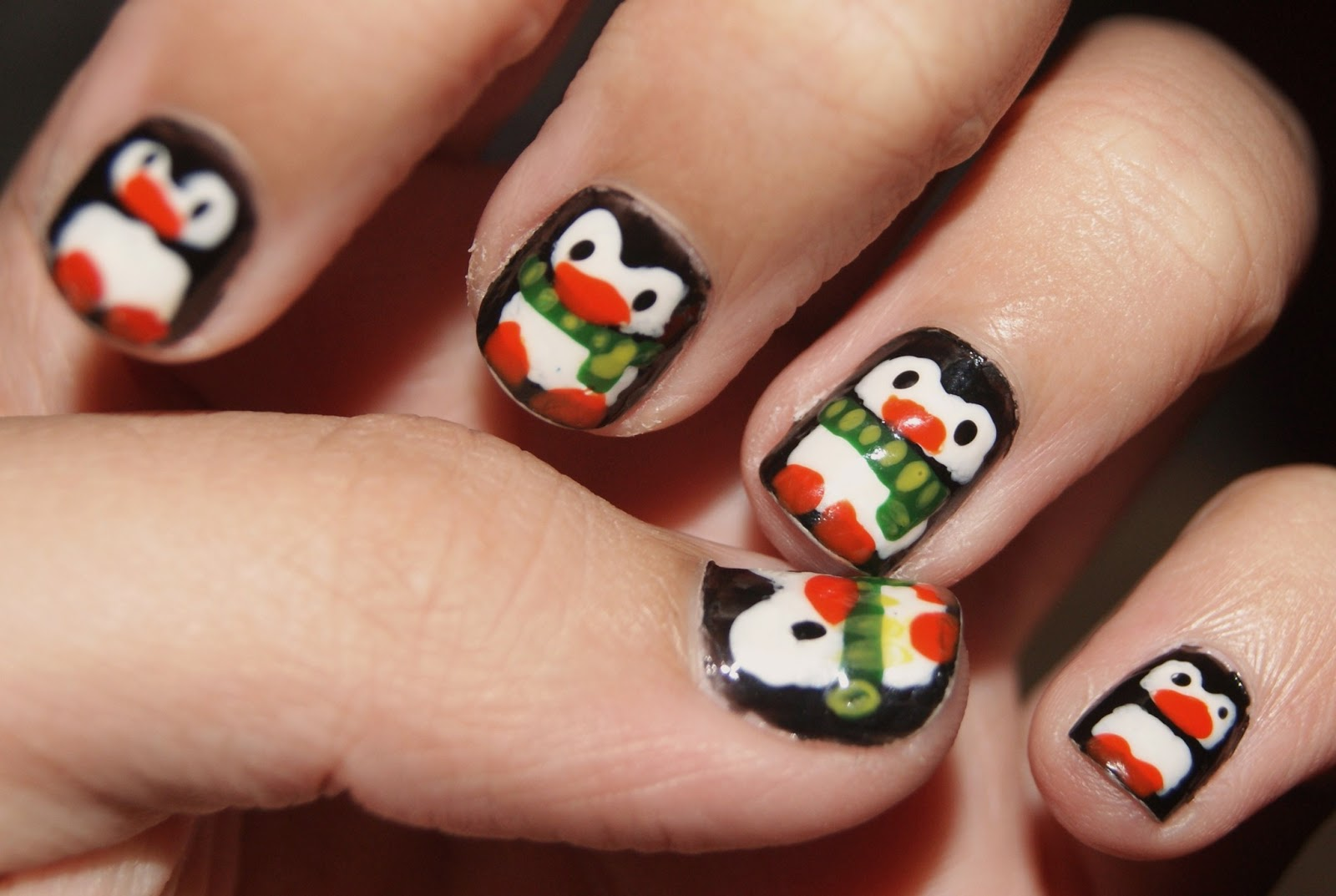 CmoJ's Nail Art: Winter Penguin Design