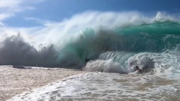 El calentamiento de los oceanos esta creando olas mas grandes.
