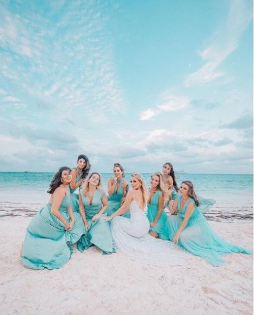 madrinha casamento na praia