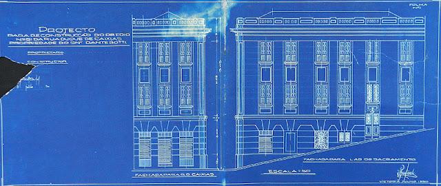 ID 327 - Projeto para reconstrução de prédio à rua Duque de Caxias n. 81, Centro, Vitória, proprietário Dante Botti, julho de 1930.