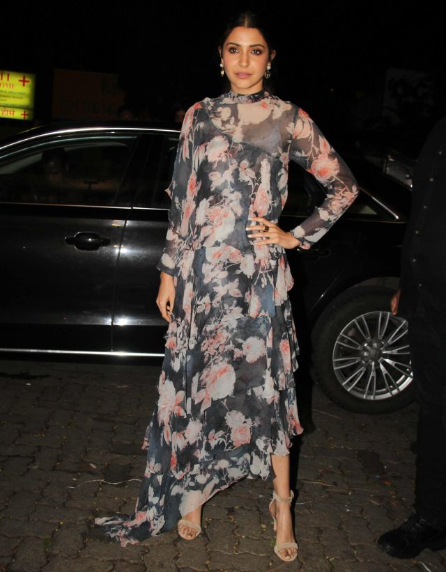 Anushka Sharma In Blue At Birthday Celebrations Of Jitesh Pillai