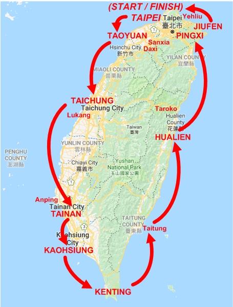 Taiwan round island by train itinerary pauls travel pics taiwan round island by train itinerary sciox Choice Image