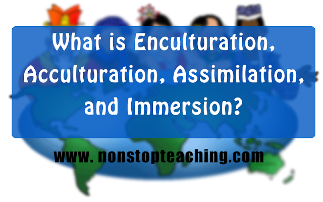 What is Enculturation, Acculturation, Assimilation, and Immersion?