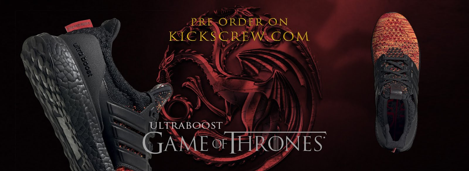 45d19385323f4 Game of Thrones x adidas ultraboost Pre Order Now and release on 15 Feb. Cop  them before GOF Season 8 release! adidas UltraBoost GOT - Black Orange  (EE3709) ...
