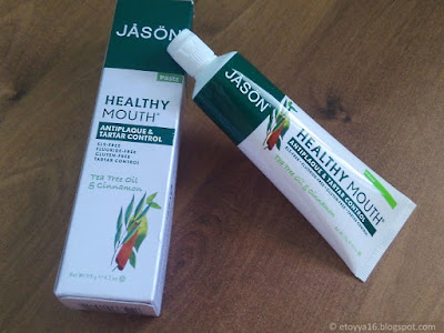Jason Natural, Healthy Mouth, Antiplaque & Tartar Control Toothpaste