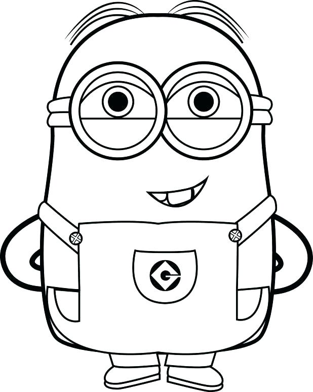 Two minions coloring page from Despicable me 3 comedy || COLORING ... | 773x618