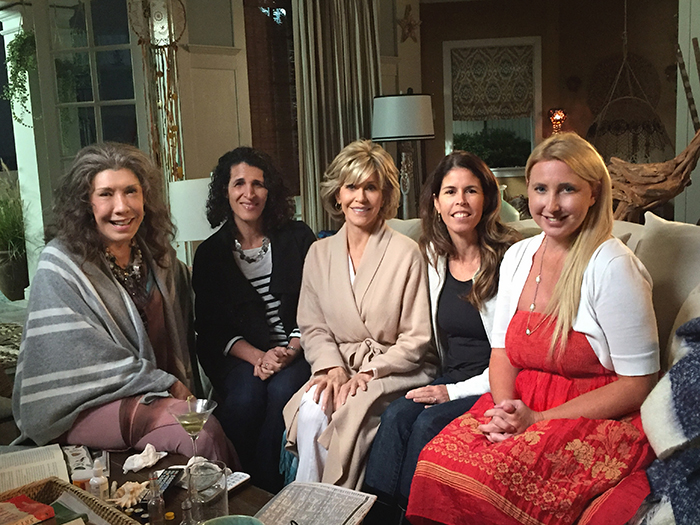 My Grace Frankie Set Visit Streamteam The Chronicles Of A