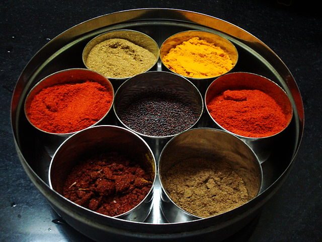 Spices in Indian Kitchen