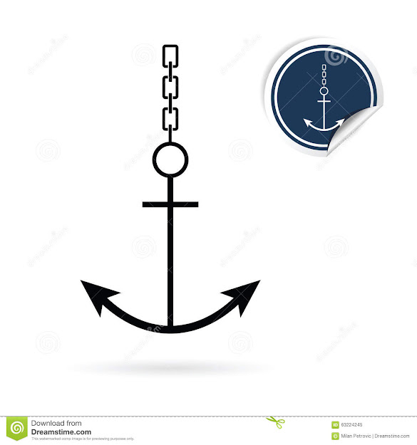 Anchor Vector Icon On White