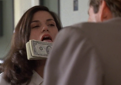 Uh, Bridget, I'd think about where that cash has been before I'd put my tongue on it.