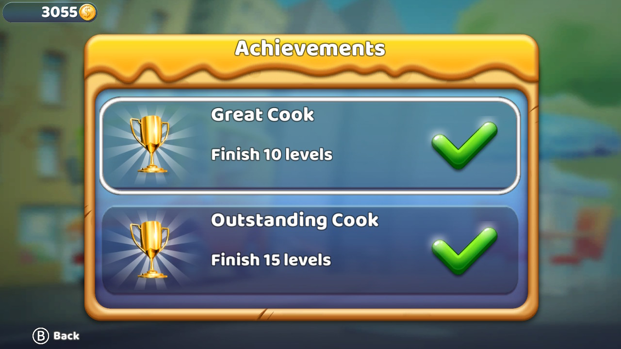 Food Truck Tycoon achievements for Nintendo Switch