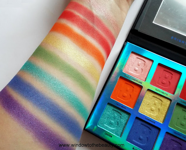 beauty bay rainbow palette swatches