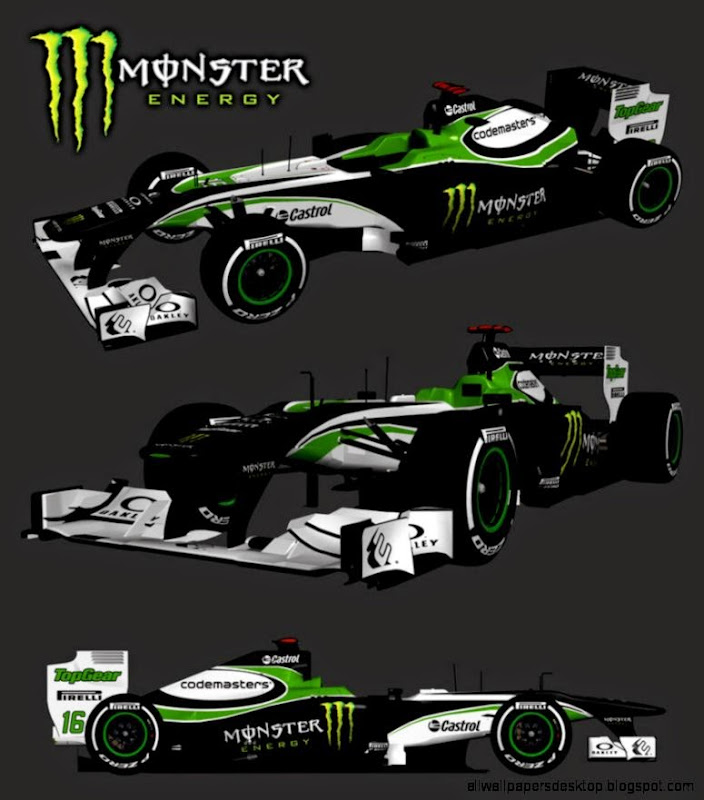 F1 Car Monster Energy Wallpaper Hd