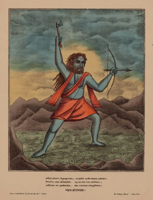 Parashurama, Sixth Avatar of Vishnu - Hindu Art Studio, Calcutta c1880's