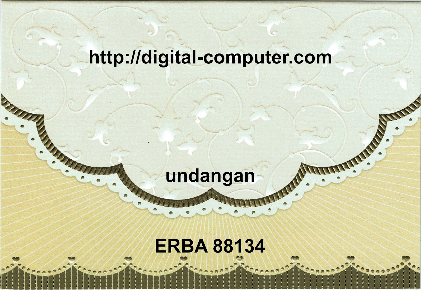 Undangan Softcover ERBA 88134