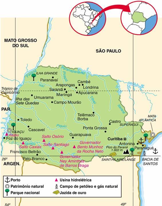 Paraná | Mapas Geográficos do Paraná