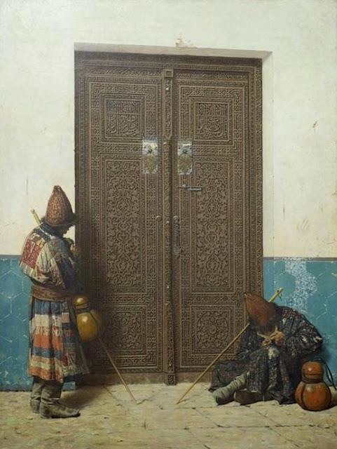 В.В. Верещагин У дверей мечети, 1873 г.