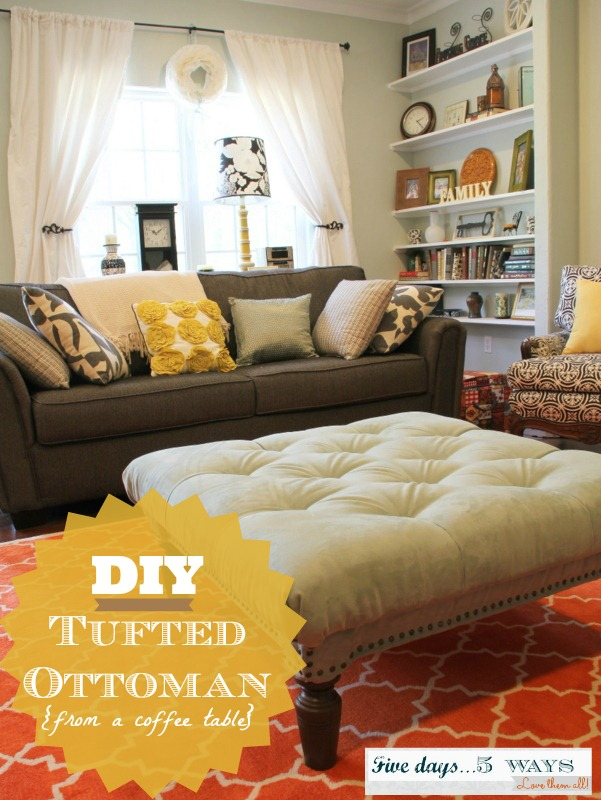 Awesome Diy Tufted Ottoman M Is For Mama Machost Co Dining Chair Design Ideas Machostcouk
