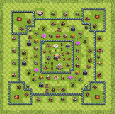 War Base Town Hall Level 11 By Nimber (kl TH 11 Layout)