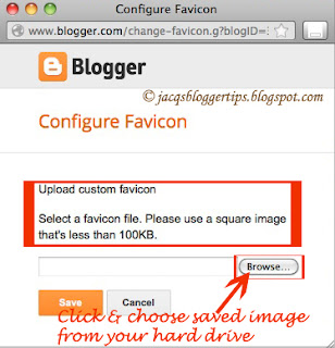 Screenshot to illustrate how to add custom favicon: step 4