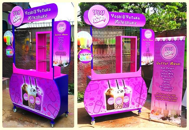 Booth Portable-Booth Bongkar pasang Milk SHake