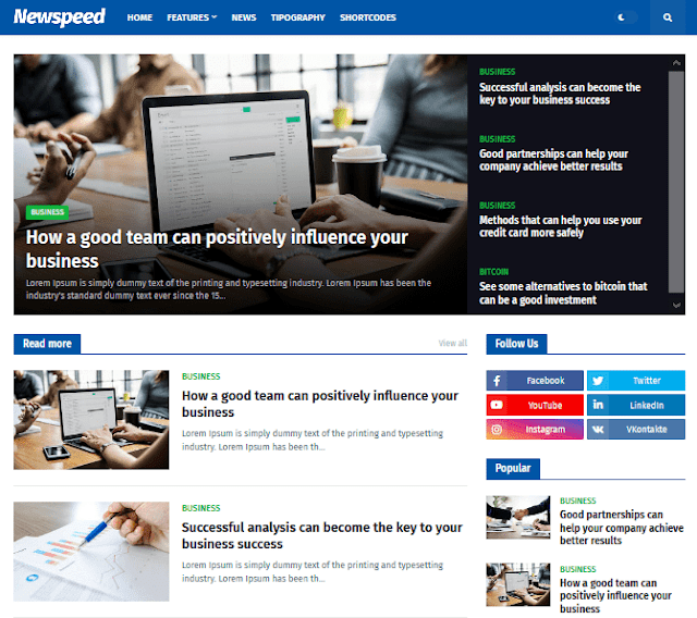 Newspeed Premium Free Download Without Foooter Credt - Newspeed Blogger Template Premium Version Download No Footer Credits - Newspeed - Professional News and Magazine Blogger Template